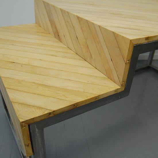 bureau-érable-acier-bois-massif-design-meuble-Montréal