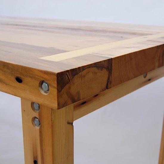 table-récupéré-recycle-bois-massif-meuble-Montréal
