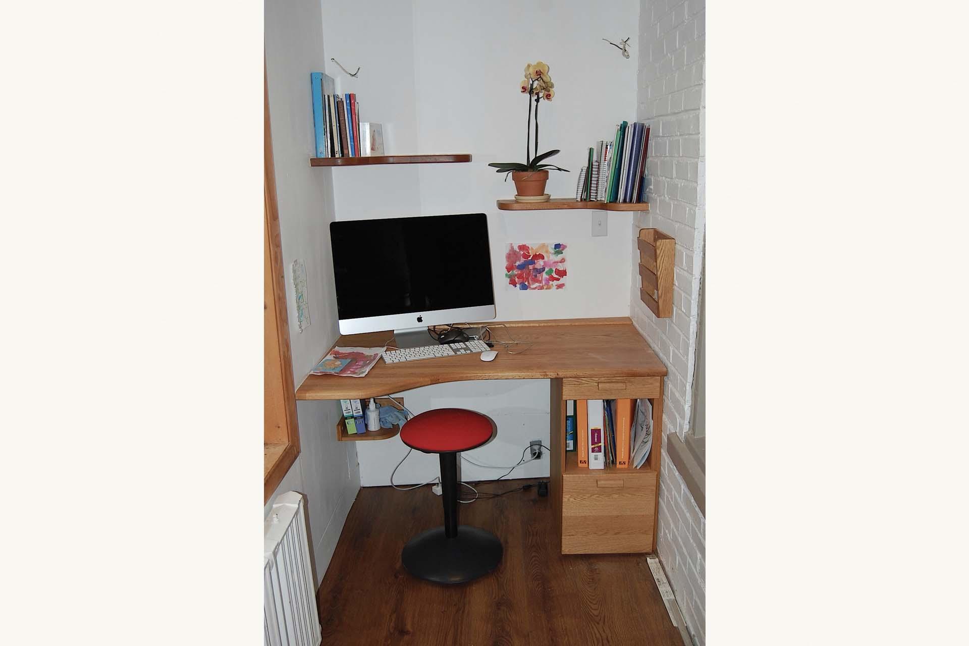 bureau sur mesure beige matpel. Black Bedroom Furniture Sets. Home Design Ideas