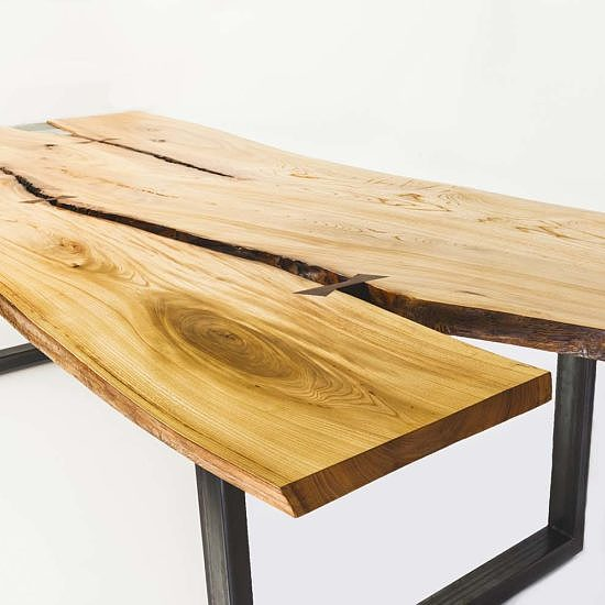 Table live edge orme du Jardin