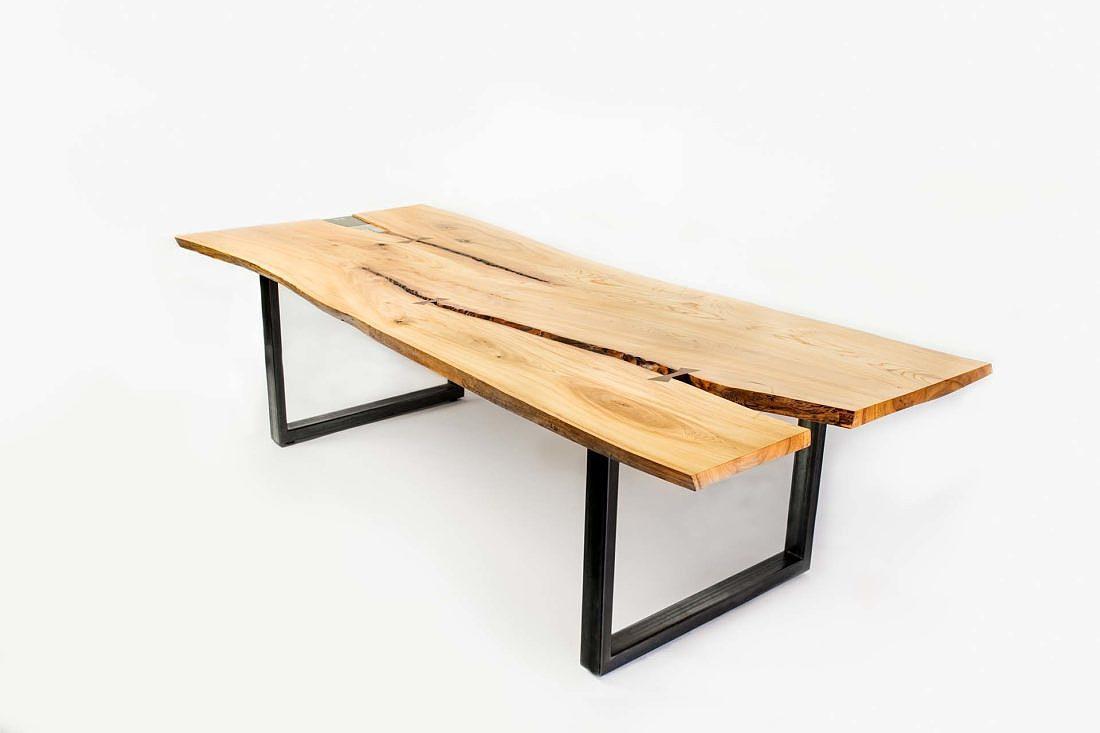 Table live edge orme du Jardin